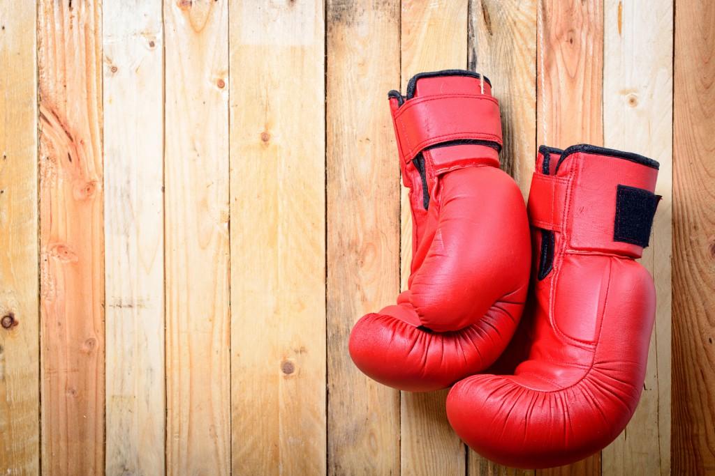 week32_1_2_Hanging Boxing Gloves