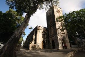 L'église de la paroisse de St. John est un bel endroit tranquille de la Barbade offrant de jolies vues.