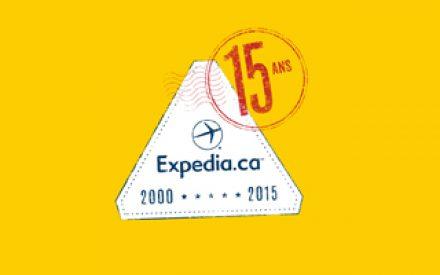 Wow,Comme le temps file! – Expedia.ca fête ses 15 ans cette année!