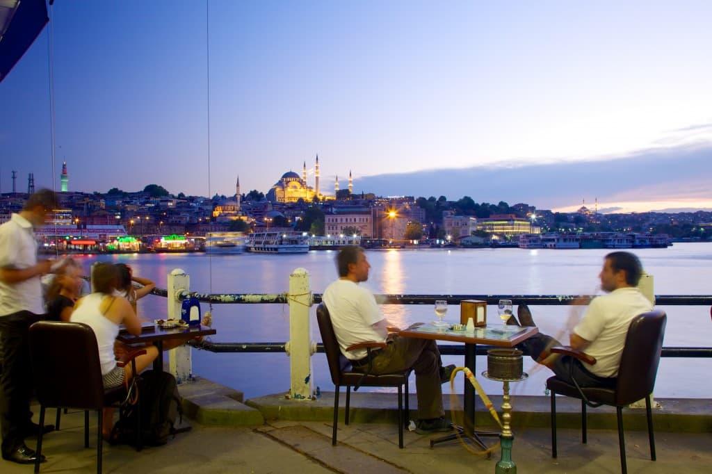 Nighttime views of Istanbul