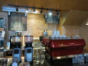 The Parsonage Cafe is a buzzy, fun spot for coffee and sandwiches in the Fernwood area of Victoria.