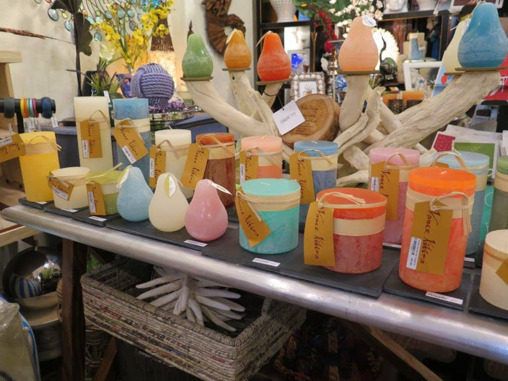 Seaside Chic sells fun home decor items on the main street in Venice, Florida.