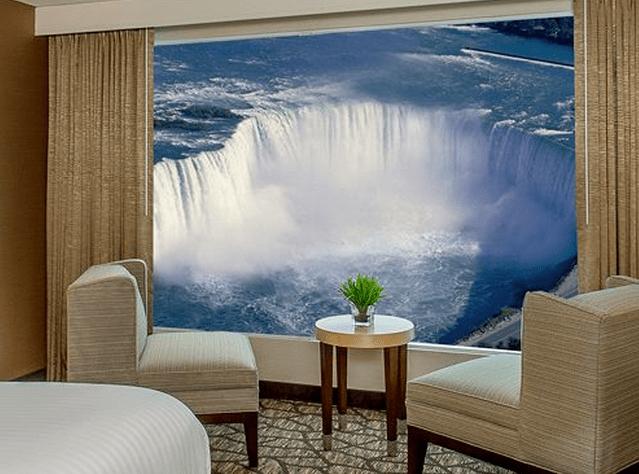 Embassy Suites guestroom view