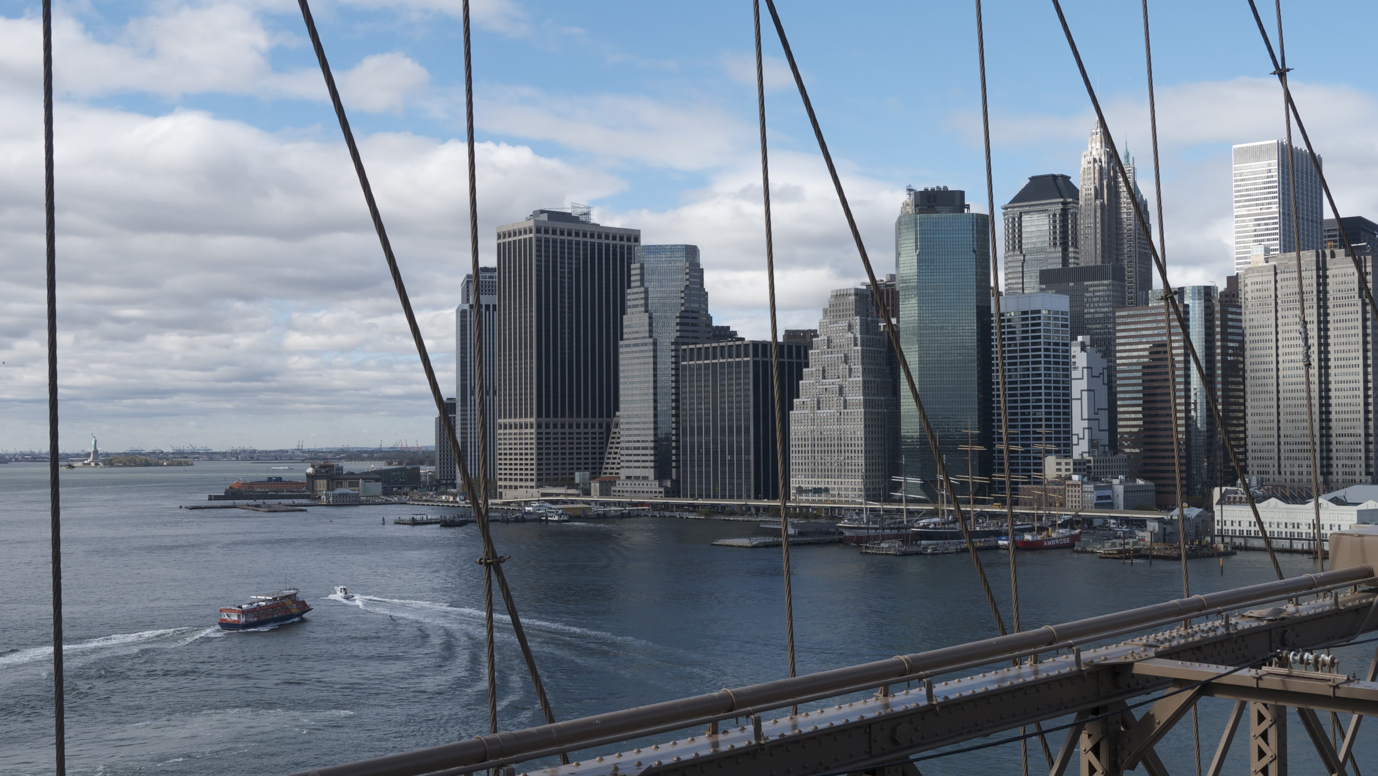 Walking the Brooklyn Bridge on a nice day offers you a new perspective on the city.