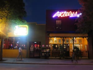 Kellys/Chic-a-Boom/Blur is a fun food and bar complex on Main Street. Drag Queen Bingo is just one of the occasional attractions.