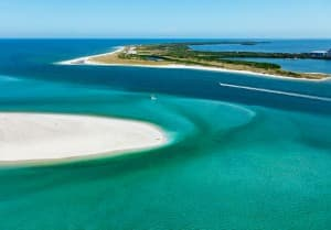 Caladesi Island and Honeymoon State Park are great spots near Dunedin, Florida.