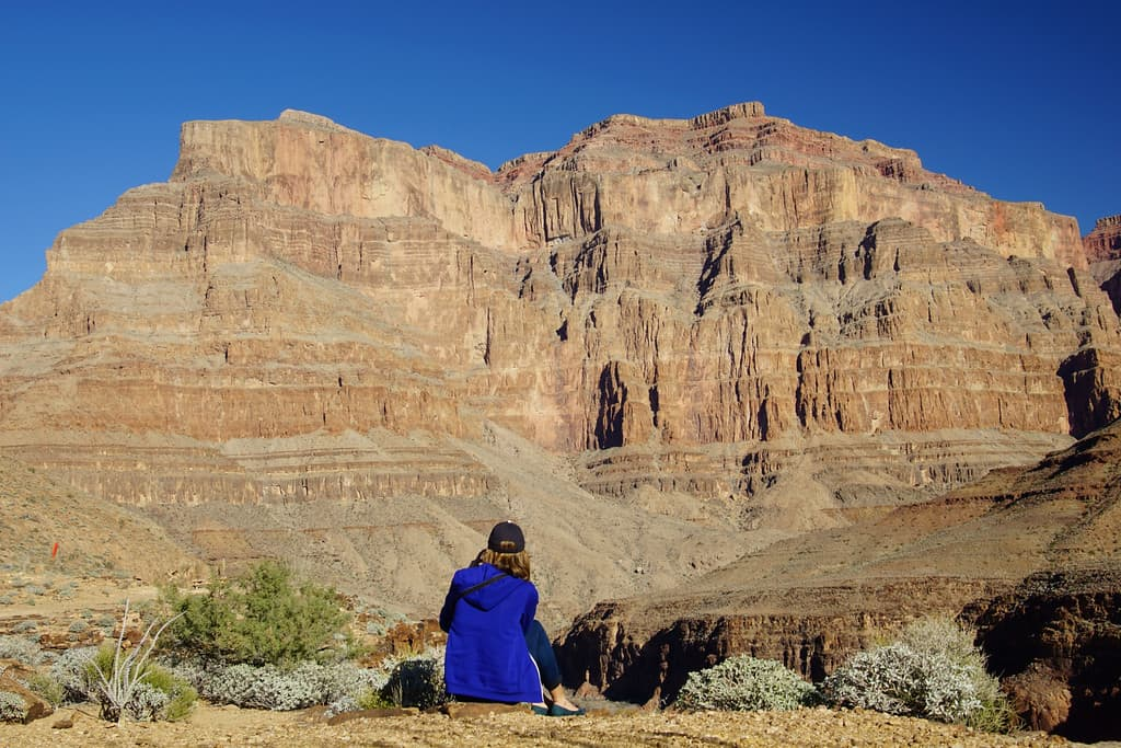 Admiring the Grand Canyon
