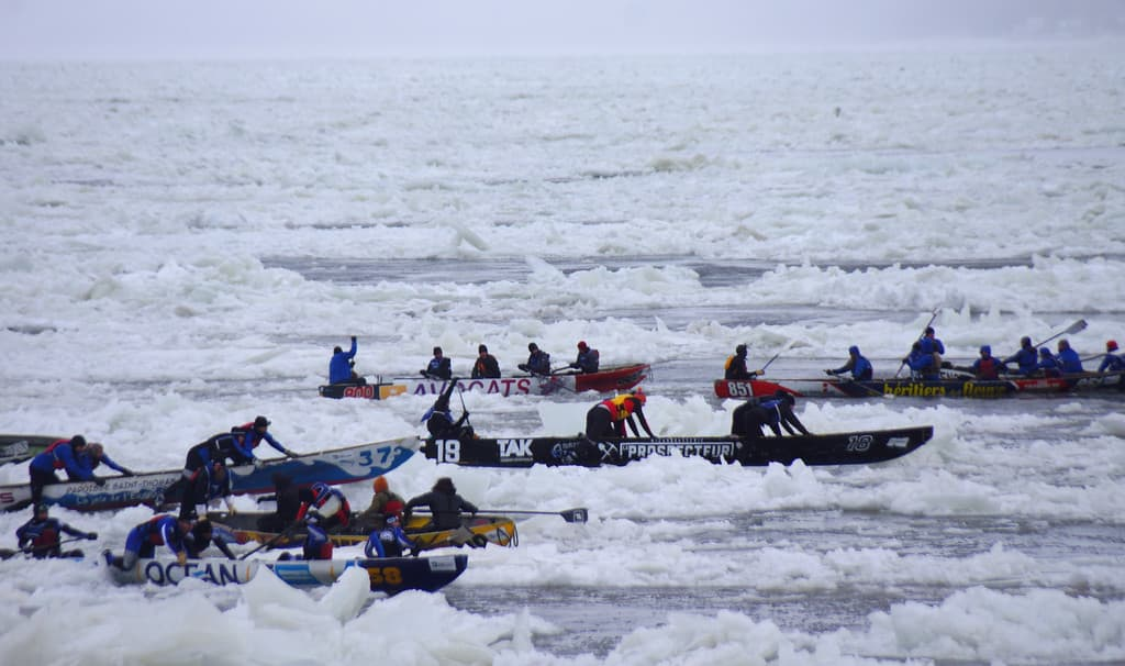 Ice Canoe Races