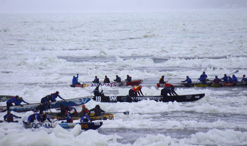 Ice Canoe Races