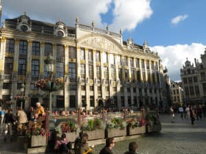 The main square in Brussels, Belgium.