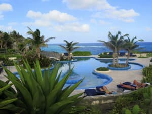 The swimming pools at The Crane Resort in Barbados are sensational.