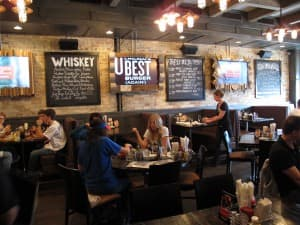 Rockit is a fun dining spot near Wrigley Field with great burgers.