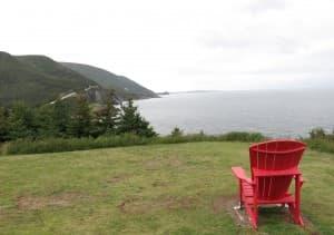 A perfect perch along the Cabot Trail in Cape Breton, Nova Scotia.