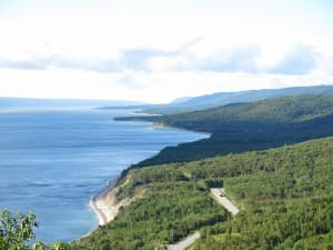 The coast of Cape Breton south of Ingonish is a lovely spot for a drive.