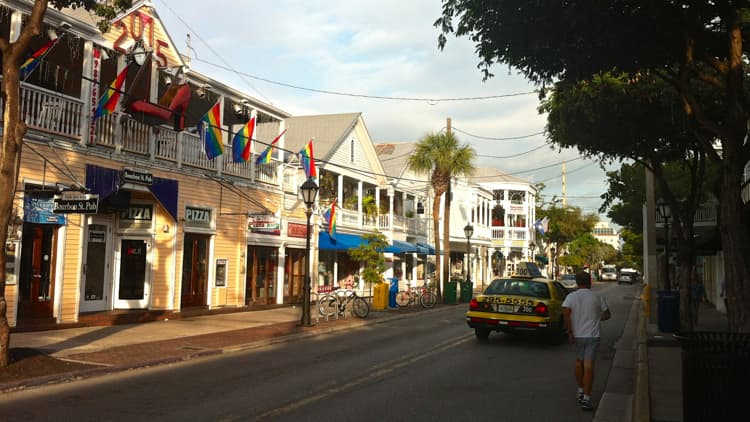 Duval Street in the early morning.