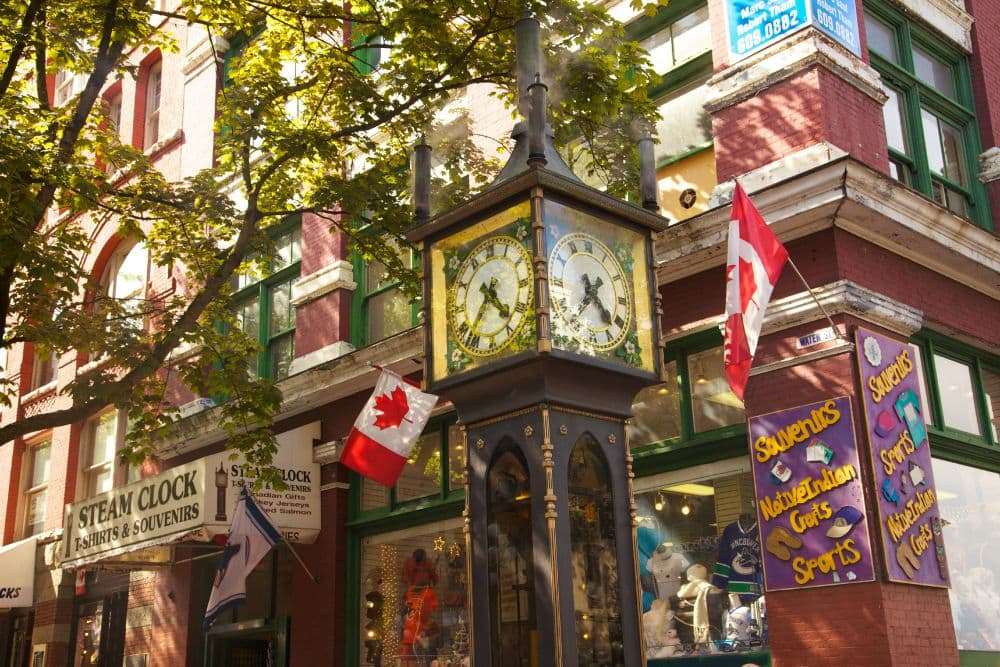 vancouver gas town clock
