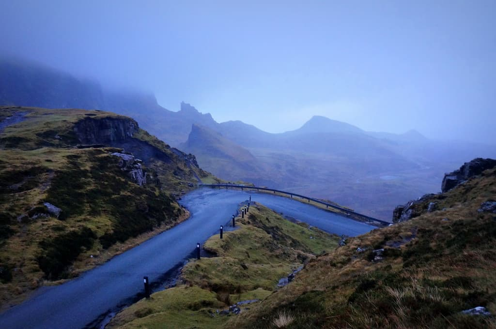 Isle of Skye on a foggy day