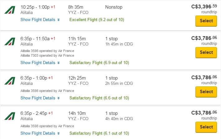 Canada_to_Rome_1 - Flight score