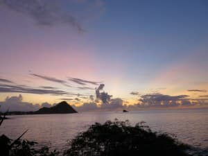 Sunsets are magical at Cap Maison resort in St. Lucia.