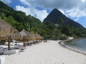 Sugar Beach, a Viceroy Resort, is nestled between St. Lucia's famous Pitons.
