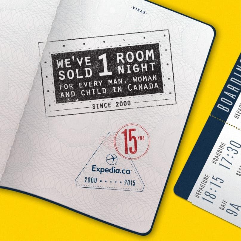 15th Anniversary Stamp RoomNights