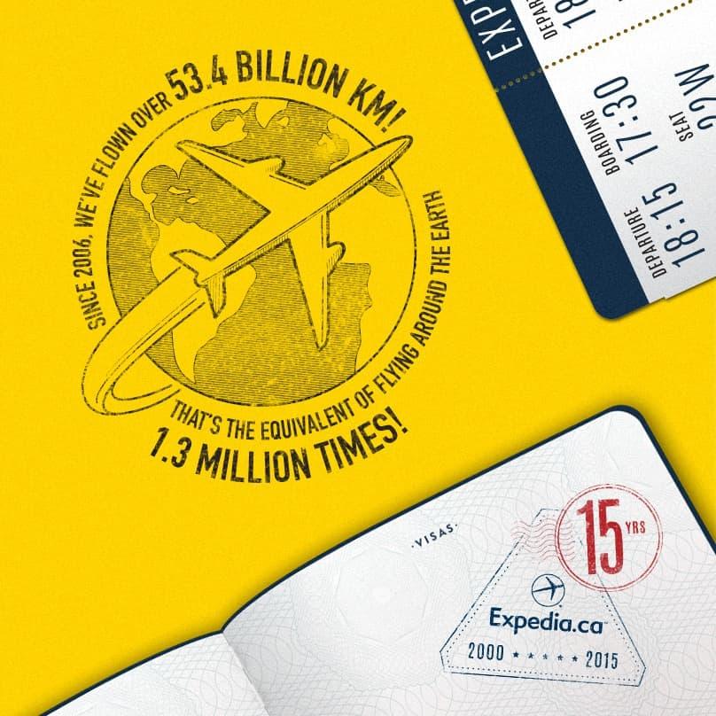 15th Anniversary Stamp kilometers