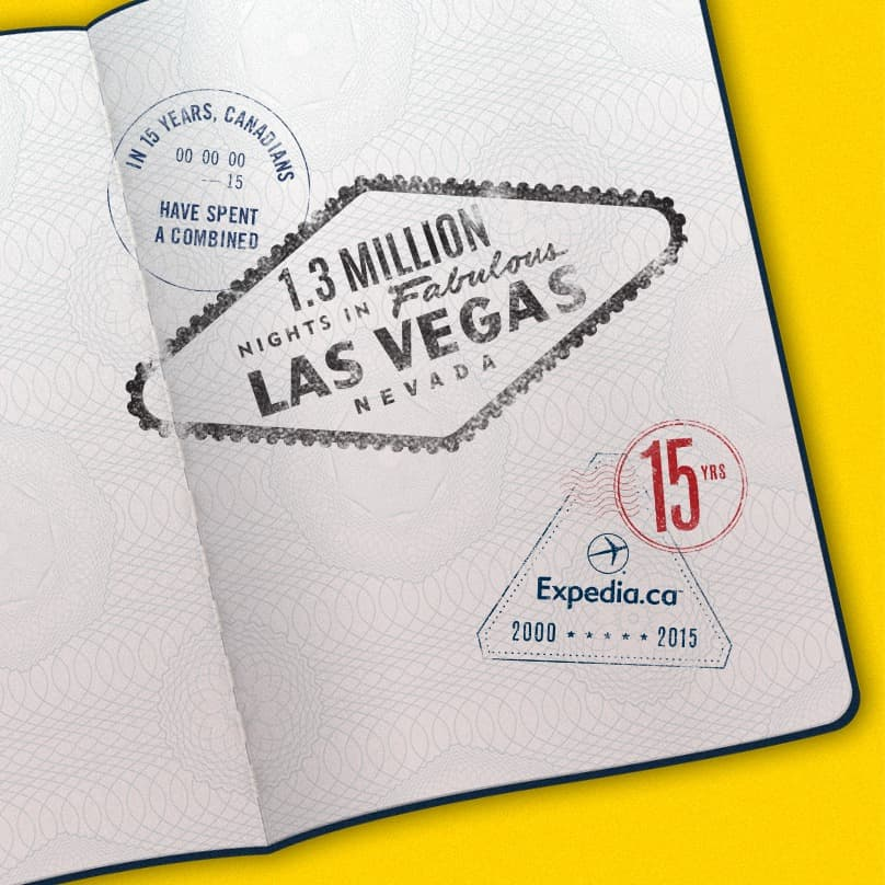 15th Anniversary Stamp vegas