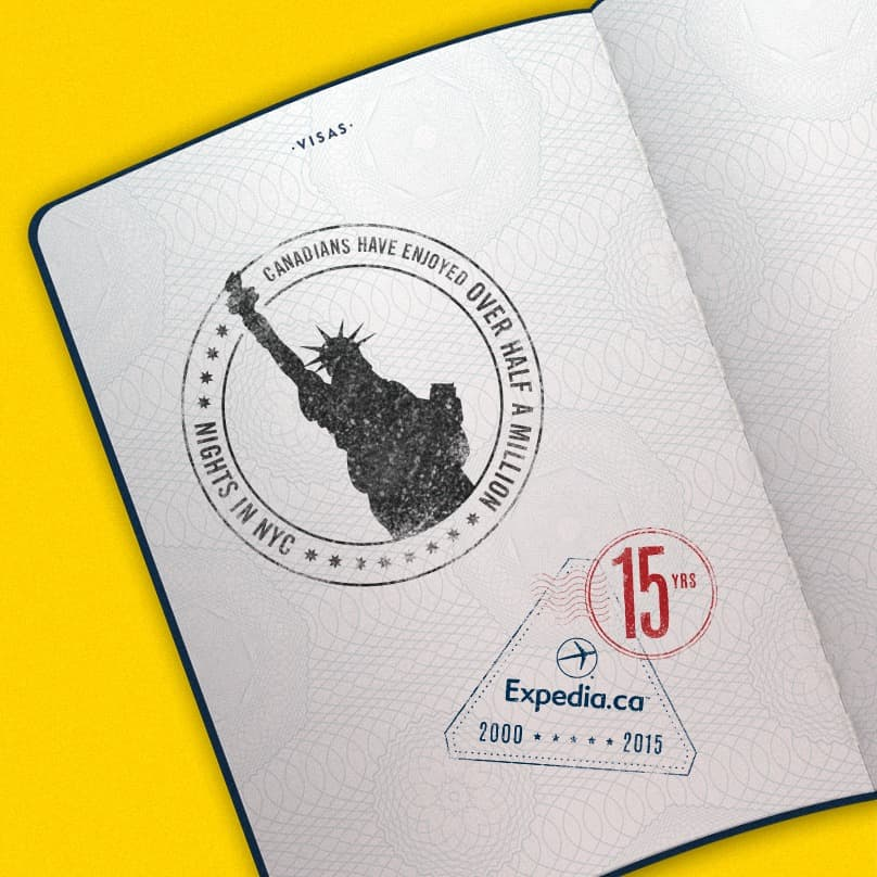 15th Anniversary Stamp NYC