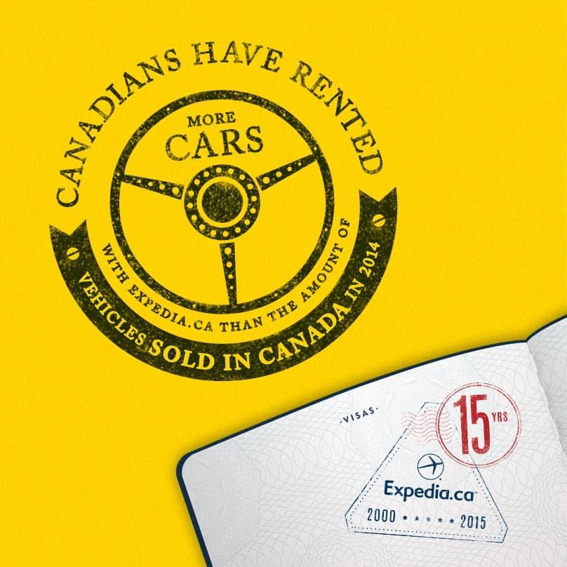 15th Anniversary Stamp Cars