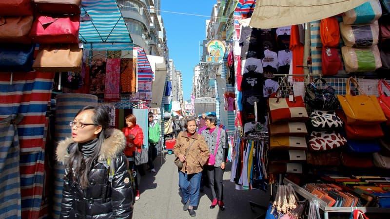 Shopping in Mong Kok, Hong Kong