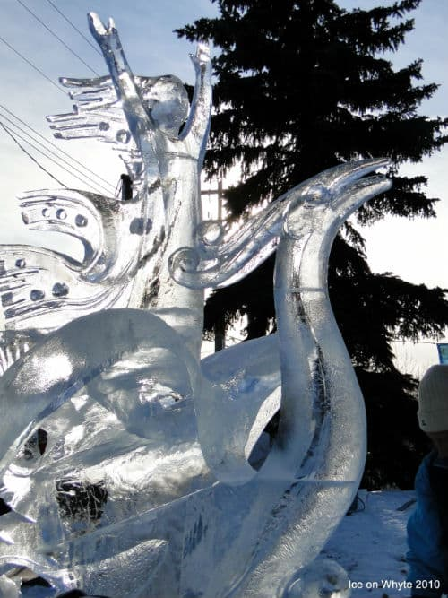 Image courtesy of Ice on Whyte Festival