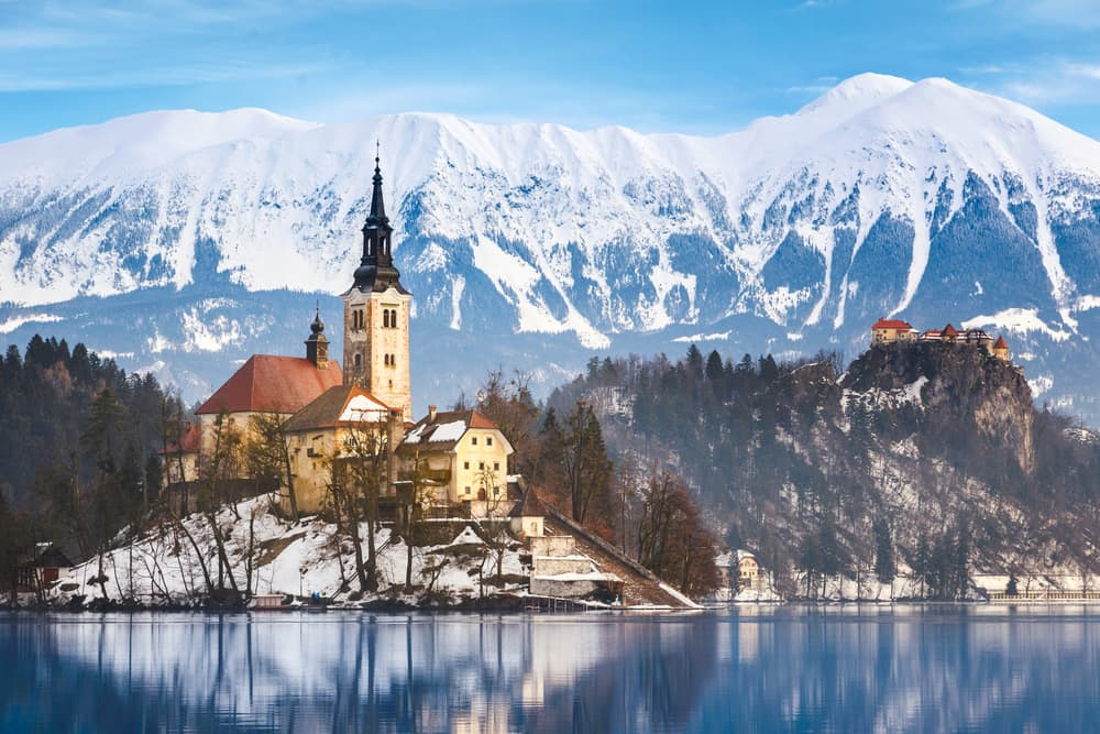 Lake Bled in Slovenia Europe