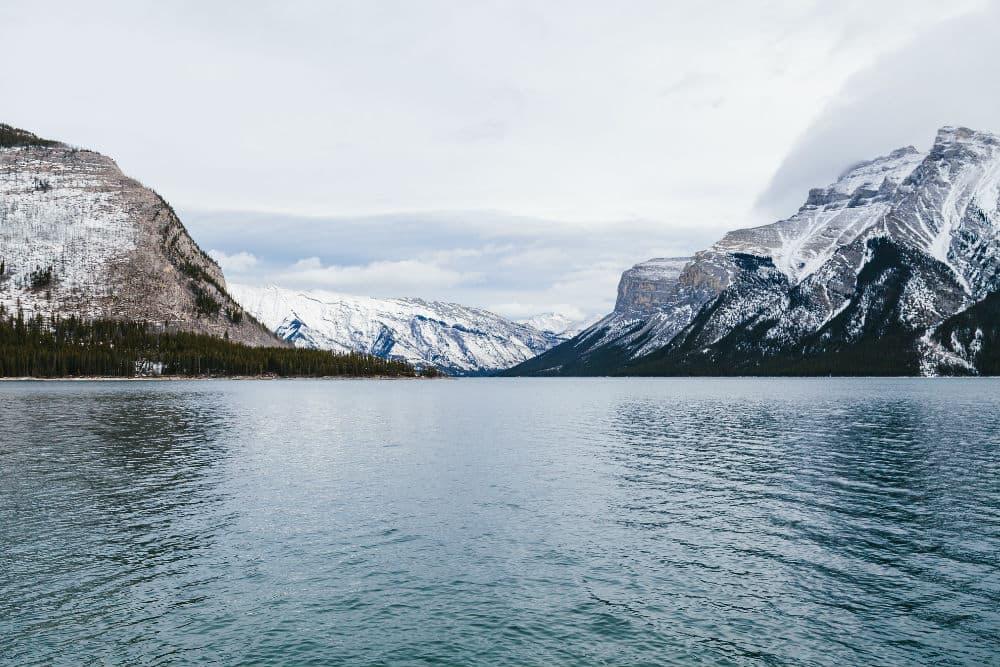 lake, banff, lake and mountains
