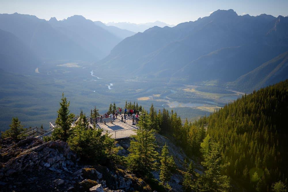 sulphur mountain, banff, scenic, mountain views, mountain lookout