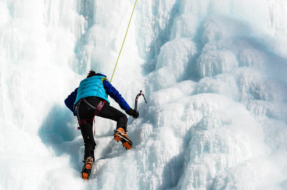 Ice Climbing in Johnston Canyon