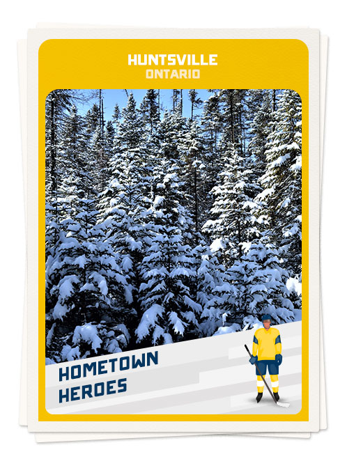 Winter in Huntsville, Ontario, one of the best places for hockey in Canada