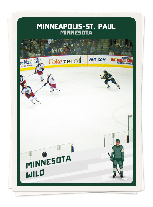 Hockey game in Minneapolis, one of North America's best hockey towns