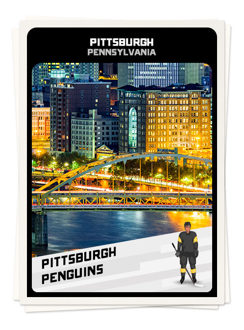 Downtown Pittsburgh, one of the best hockey towns in America