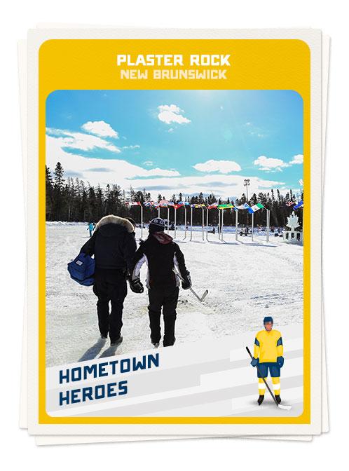 Hockey in Plaster Rock, New Brunswick