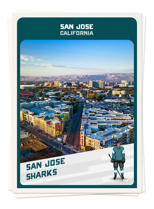Downtown San Jose, one of hockey's top cities
