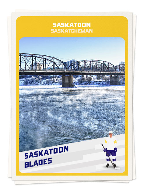 Winter in Saskatoon, one of the best hockey destinations in Canada