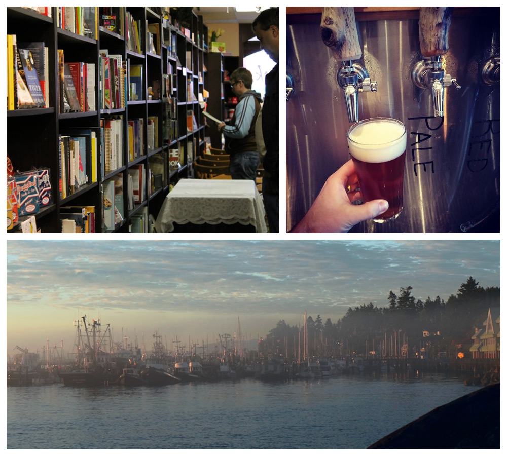 Beer and bookshops in Campbell River, a top ranked cozy city in Canada