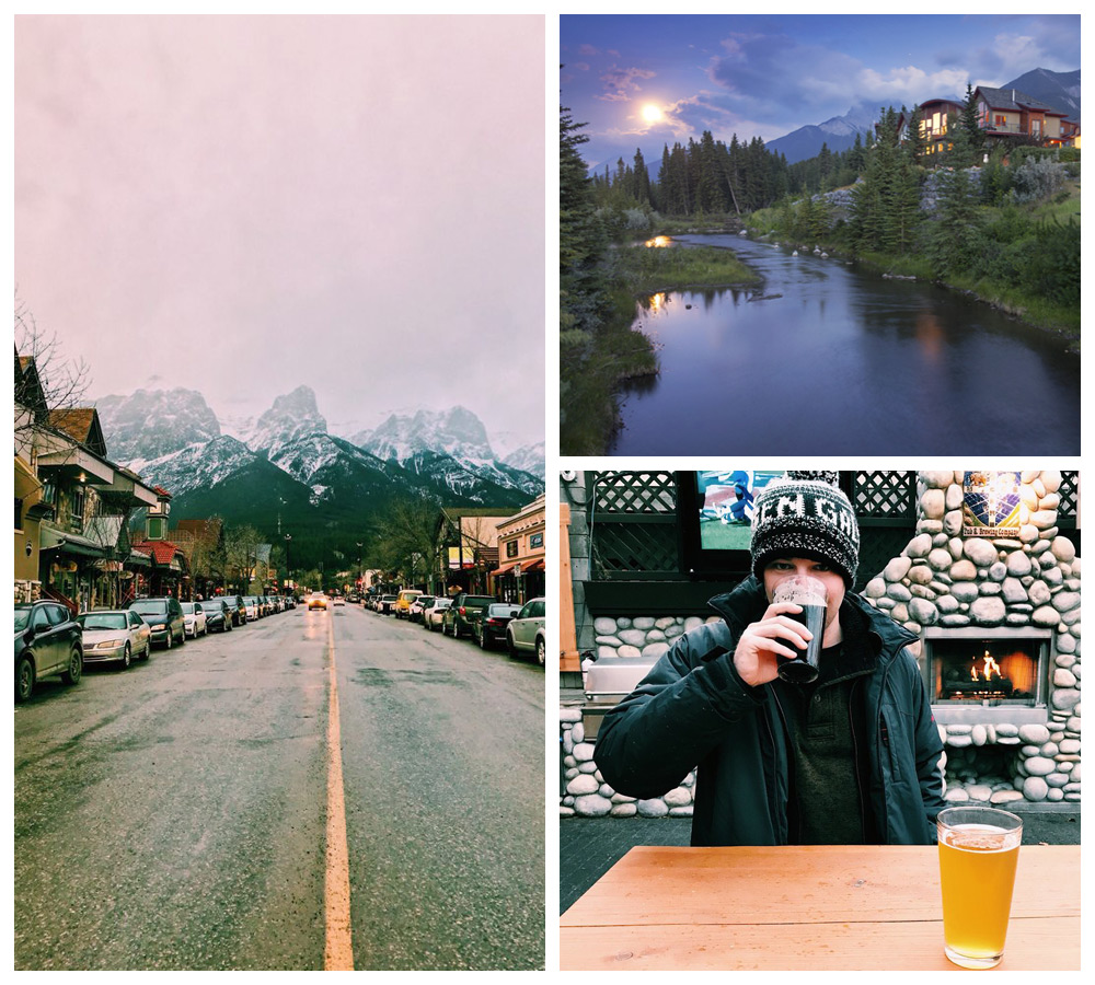 Views of Canmore, AB, one of the most comfortable cities in Canada