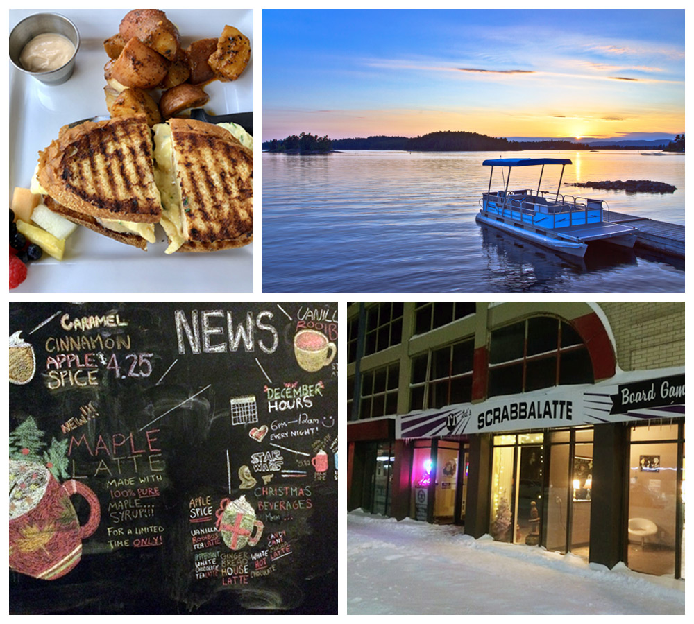 Views of food and points of interest in Sudbury, ON, a comfortable city in Canada
