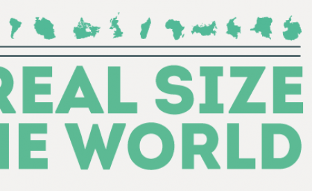 The real size of the world