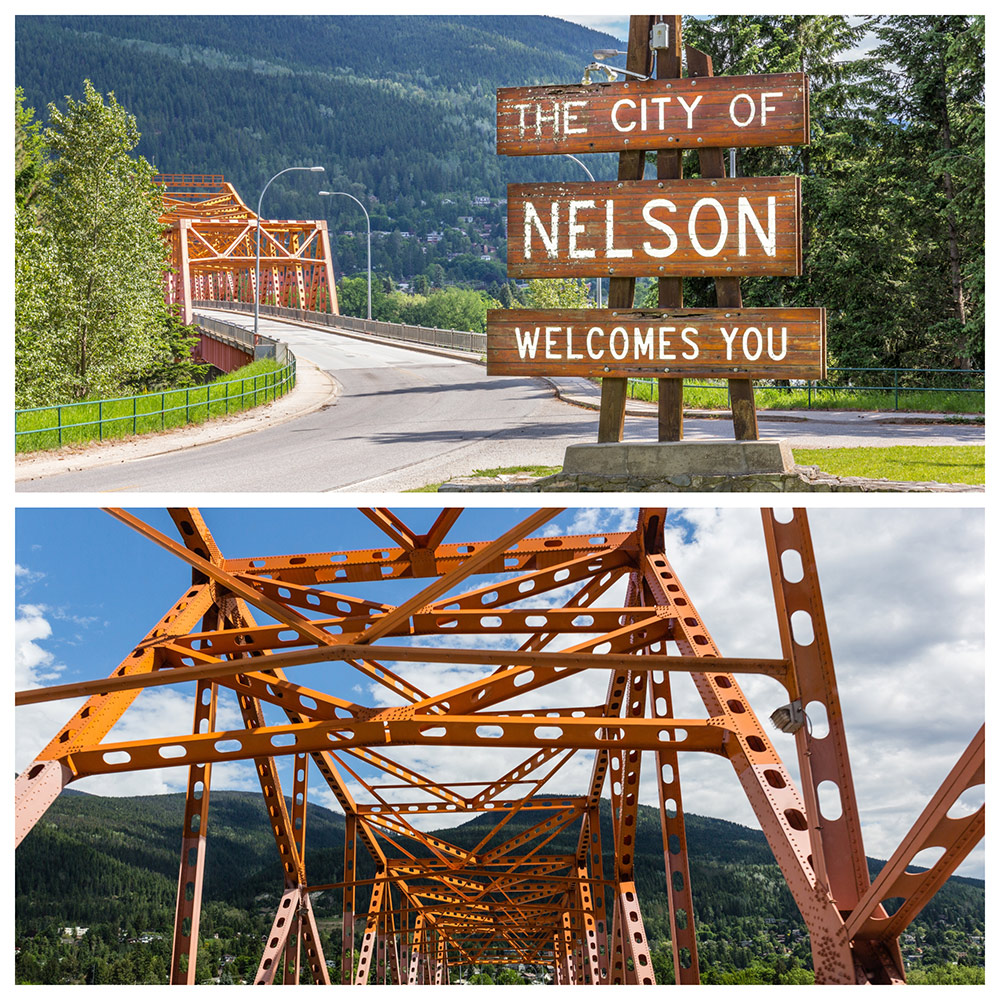 The historic city of Nelson, BC Title text: Nelson, BC, a historic Canadian city