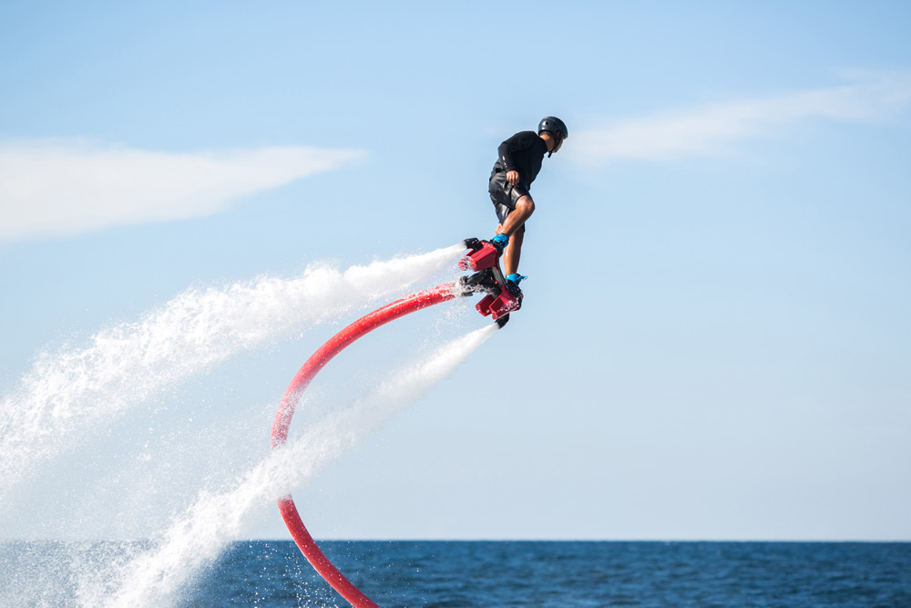 Flyboarding, a top thing to do in Cabo, Mexico