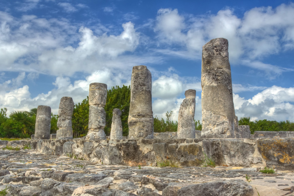 Historical sites, a top attraction in Cancun, Mexico