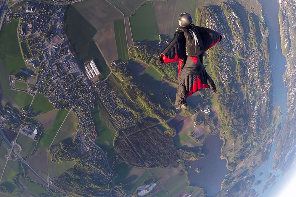 wing suit diving