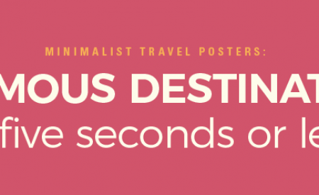 Minimalist travel posters: 14 destinations in five seconds or less